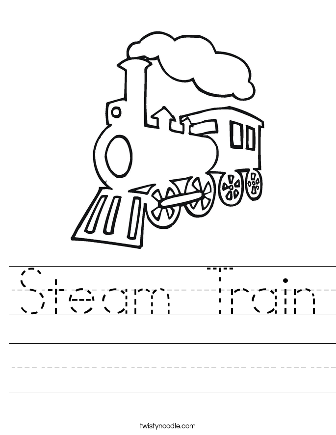 Steam Train Worksheet