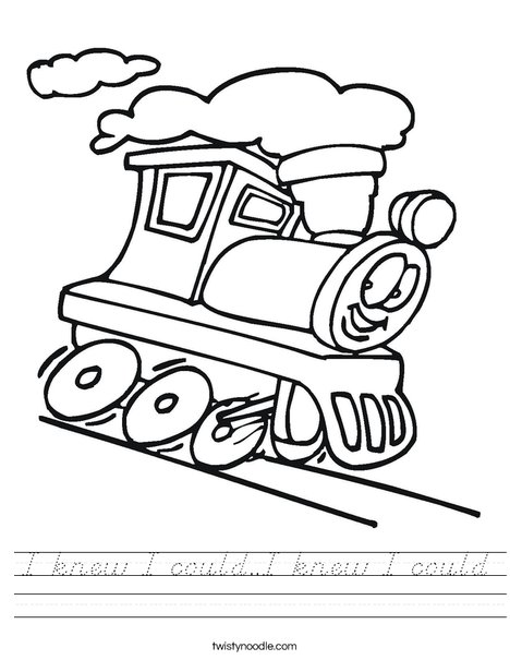 T is for Train Worksheet