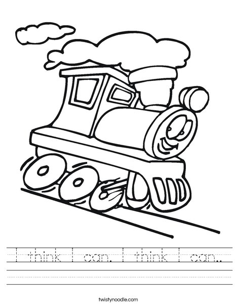 Think Can Worksheet Twisty Noodle