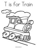 T is for TrainColoring Page