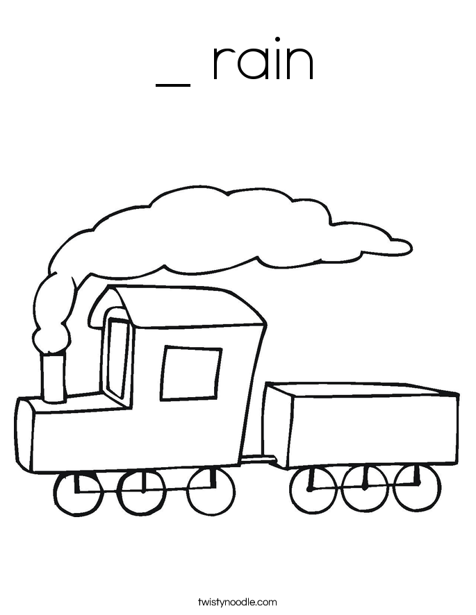 _ rain Coloring Page