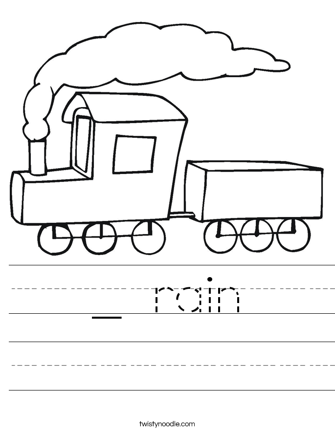 _ rain Worksheet