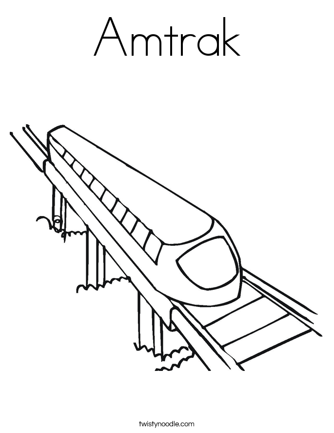 Amtrak Coloring Page