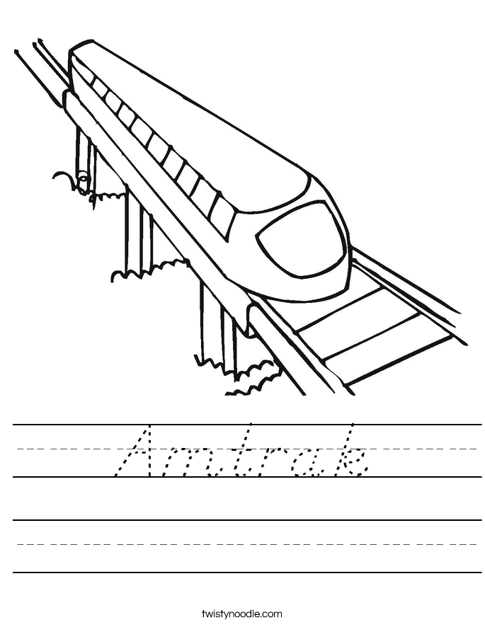 Amtrak Worksheet