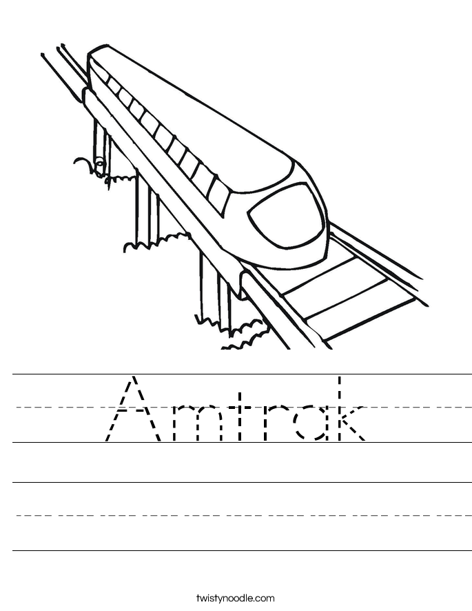 Amtrak Worksheet