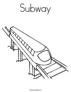 Subway Coloring Page