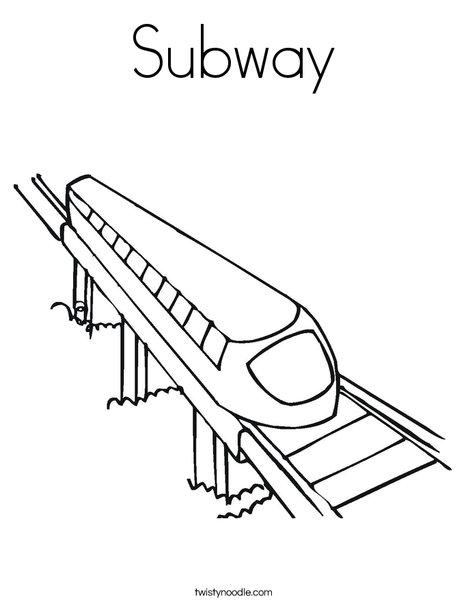 Subway Coloring Page
