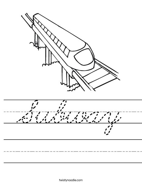 Subway Worksheet