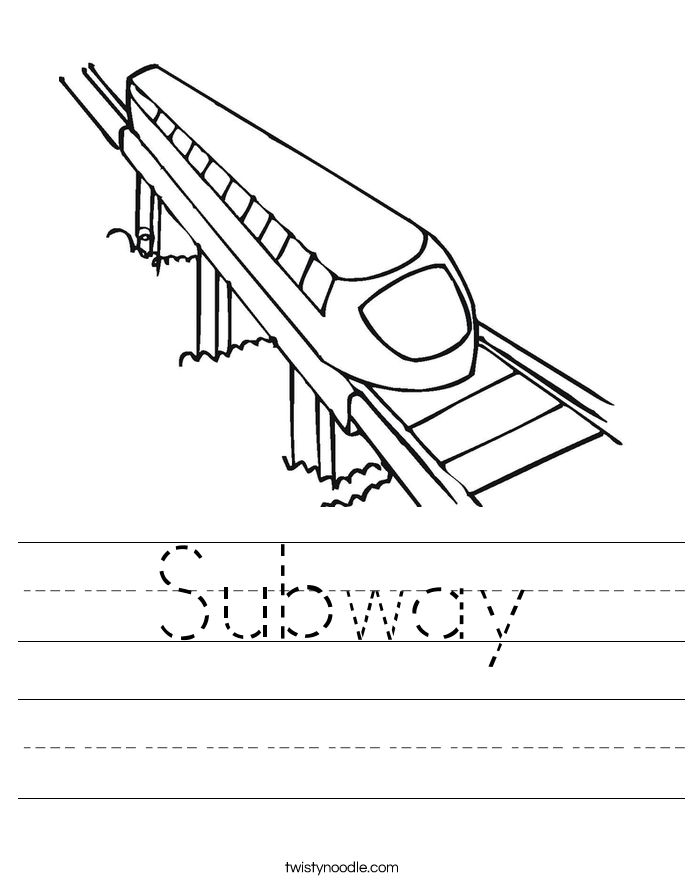 Subway Worksheet