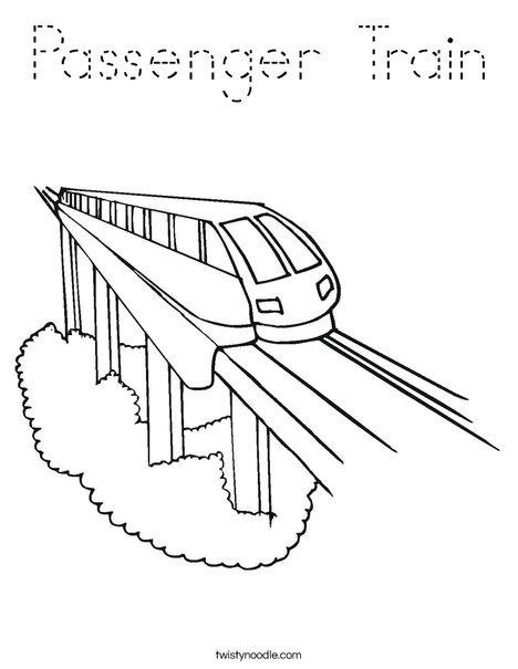 Passenger Train Coloring Page