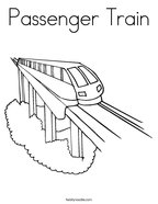 Passenger Train Coloring Page