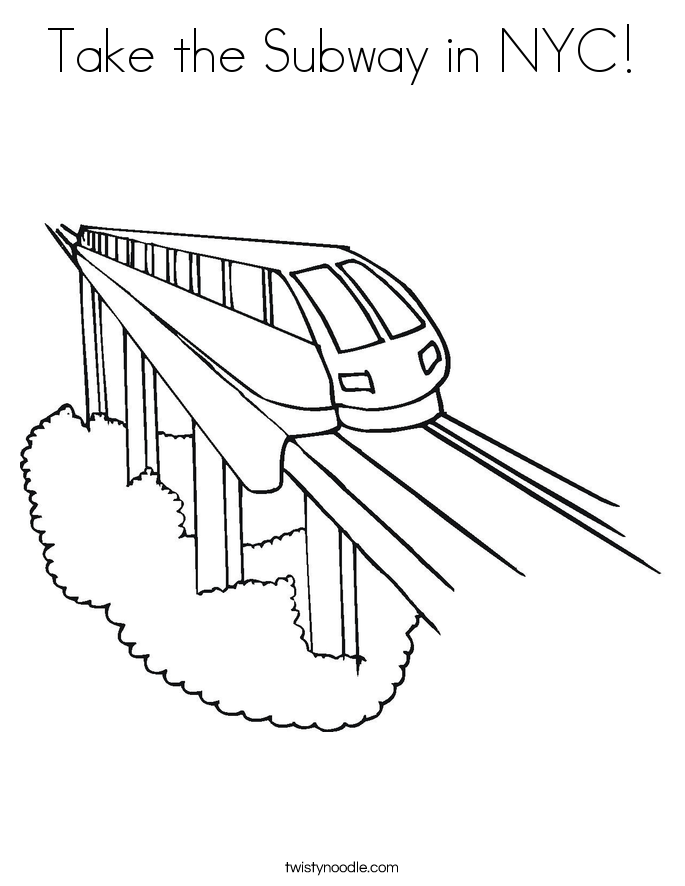 Take the Subway in NYC! Coloring Page