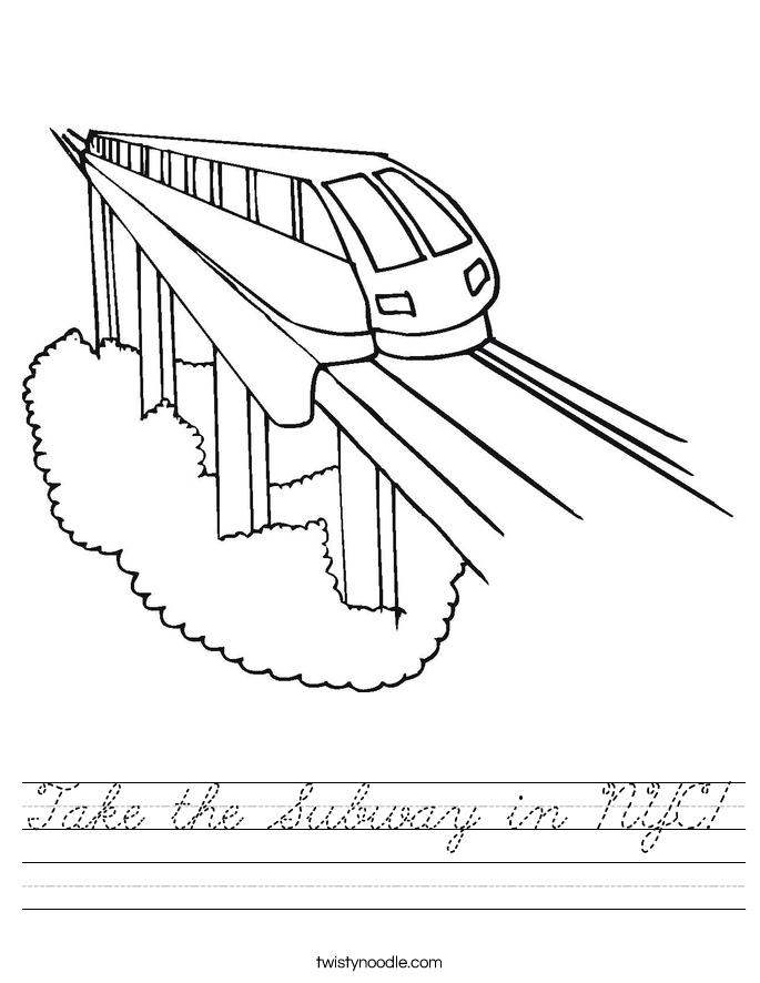 Take the Subway in NYC! Worksheet