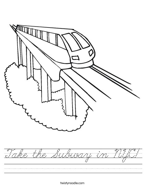 Passenger Train Worksheet