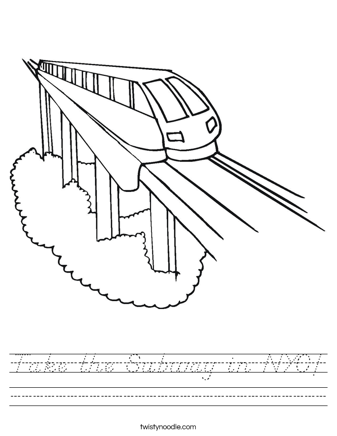 Take the Subway in NYC! Worksheet