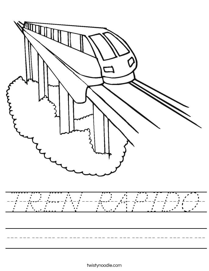 TREN RAPIDO Worksheet