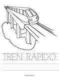 TREN RAPIDO Worksheet