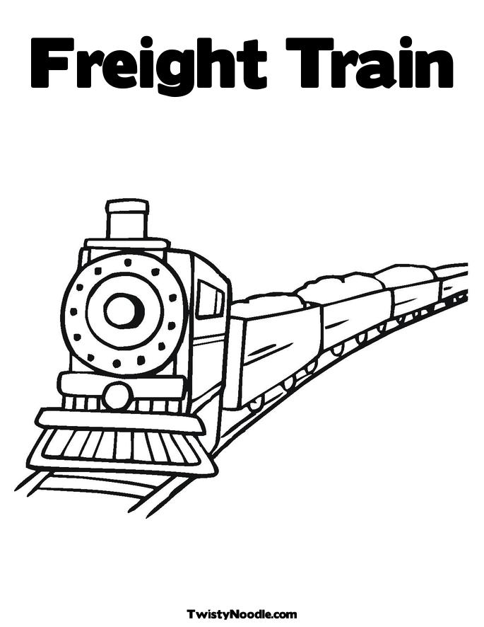 railroad freight cars coloring pages - photo#5