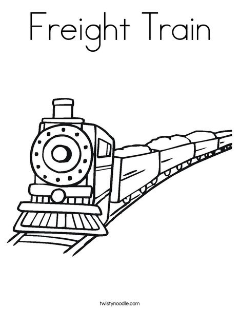 Freight Train Coloring Page - Twisty Noodle