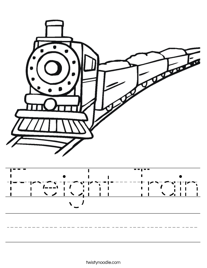 Freight Train Worksheet