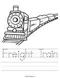 Freight Train Worksheet