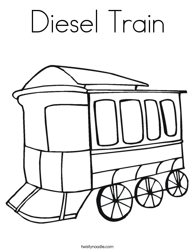 Diesel Train Coloring Page
