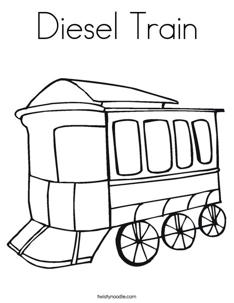 Diesel Train Coloring Page - Twisty Noodle