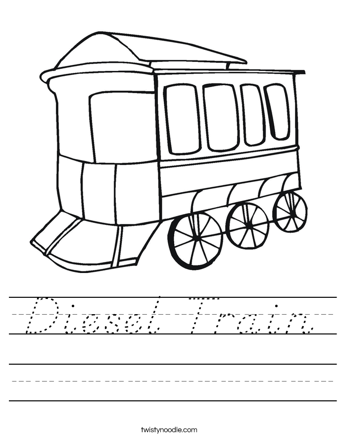 Diesel Train Worksheet