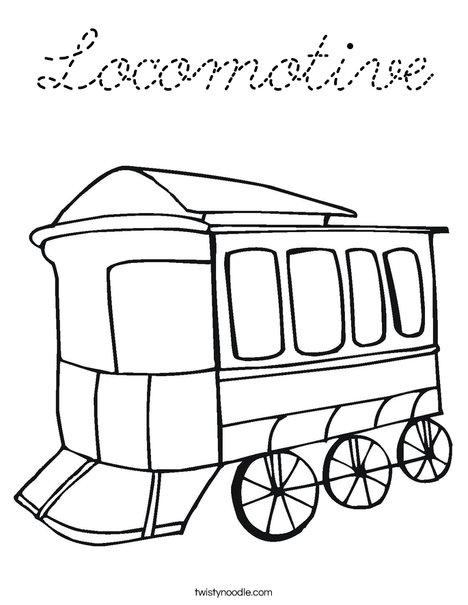 Locomotive Coloring Page