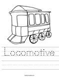 Locomotive Worksheet