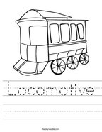Locomotive Handwriting Sheet