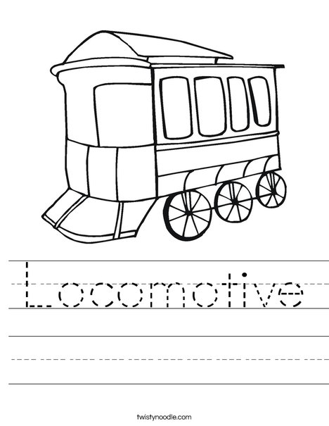 Locomotive Worksheet