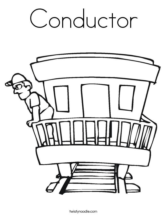 train conductor coloring page conductor coloring page