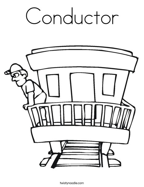 Conductor Coloring Page