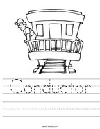 Conductor Handwriting Sheet