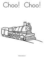 Choo  Choo Coloring Page
