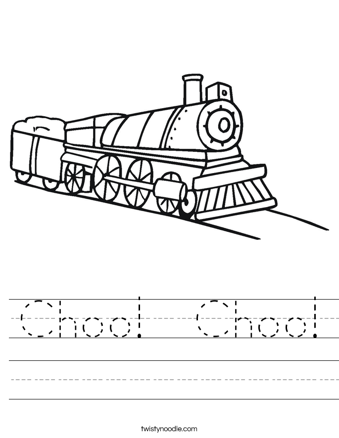 Choo!  Choo! Worksheet