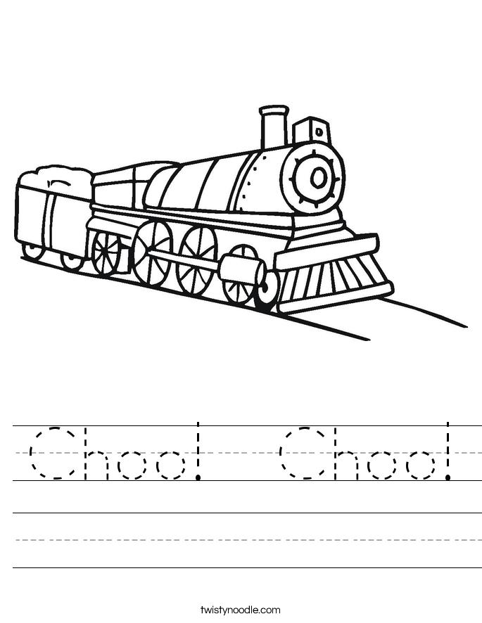 Choo!  Choo! Worksheet