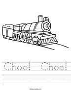 Choo  Choo Handwriting Sheet