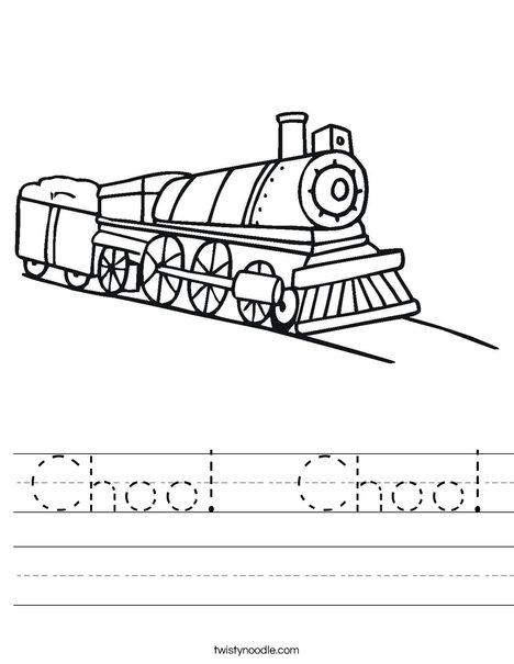 Choo Choo Train Worksheet