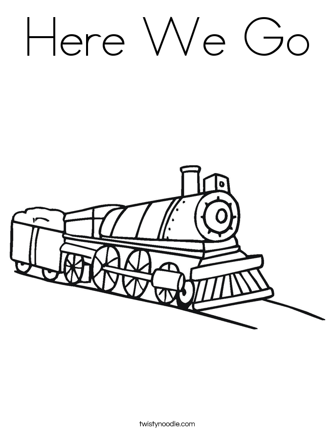 Here We Go Coloring Page