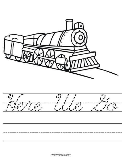 Choo Choo Train Worksheet