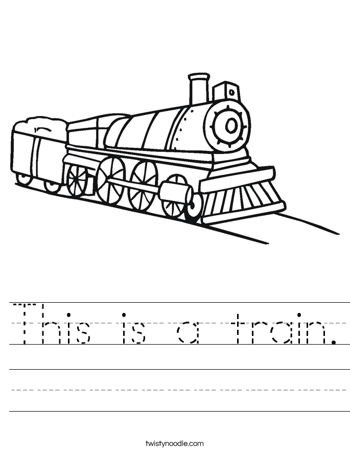This is a train. Worksheet
