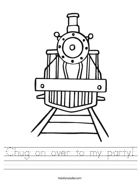 Party Train Worksheet