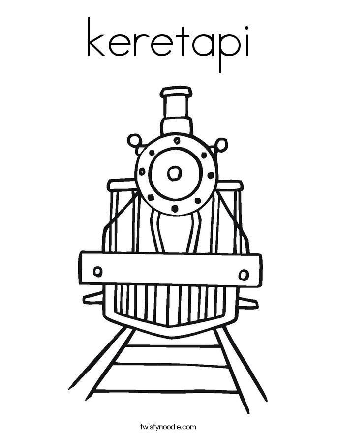 keretapi Coloring Page