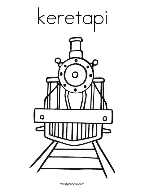 Party Train Coloring Page