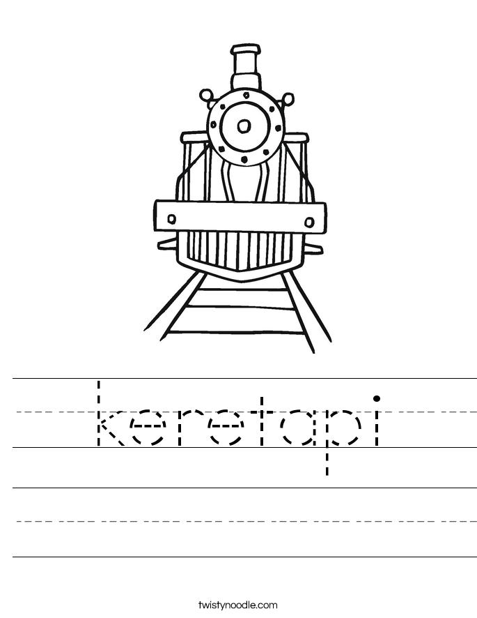 keretapi Worksheet