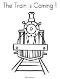 The Train is Coming ! Coloring Page