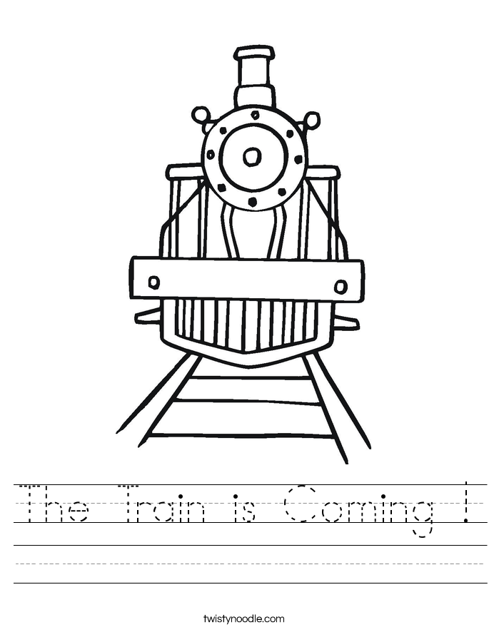 The Train is Coming ! Worksheet