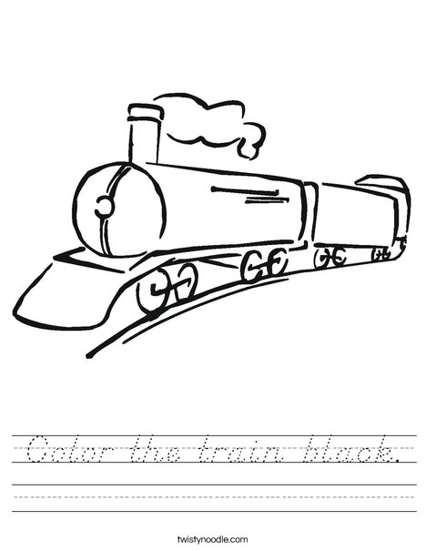 Black Train Worksheet